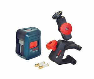 Bosch Gll 2 30 Ft Self leveling Cross line Laser Level With Clamping Mount New