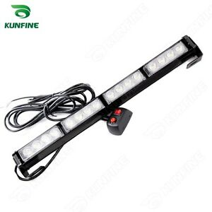 White Waterproof Led Strobe Light 16w High Power Led Bar With Flash Patterns