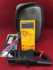 Fluke 23 Series Multimeter With Case 80i 400 Clamp Ships Free c8