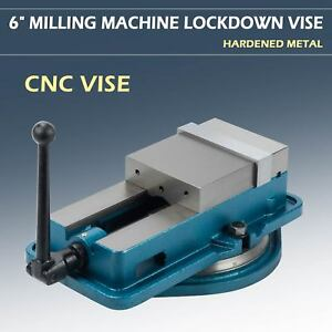 6 Hardened Milling Machine Vise Lockdown Cnc Bench Clamp Clamping Accu
