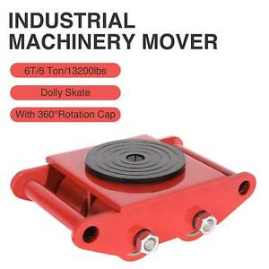 Heavy Duty Machine Dolly Skate Machinery Roller Mover Cargo Trolley 6 Ton