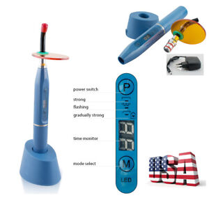 usa blue Dental Clinic 10w Wireless Cordless Led Curing Light Cure Lamp 2000mw