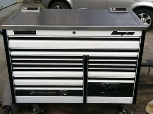 Snap on 60 Epiq White Tool Box Stainless Power Top Epiq Anniversary Edition