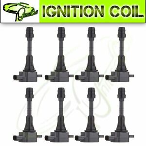 Set Of 8 Brand New Ignition Coils For Infiniti Qx56 Nissan Armada Titan Uf510