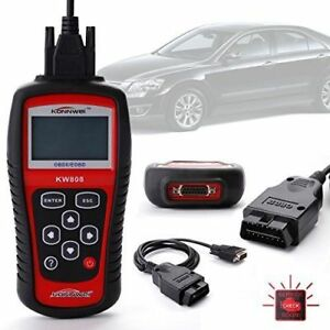 Kw808 Car Scanner Tool Eobd Obd2 Ii Diagnostic Engine Fault Code Reader Scan Mx