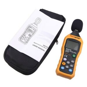 Ms6708 Lcd Digital Audio Decibel Sound Noise Level Meter Monitor 30 130db Measur