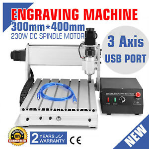 Usb Cnc Router Engraver Engraving 3 Axis 3040t dq Woodworking Cutting Usb Port