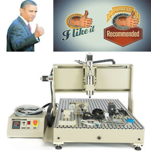 Usb Cnc Router 4 Axis 6090 2200w Vfd Engraver Milling Drilling Cutting Machine