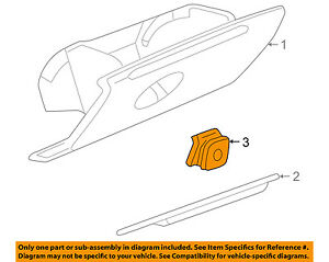 Buick Gm Oem 02 04 Regal glove Ompartment Box Lock 10430566
