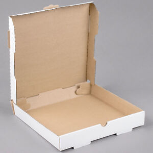 50 pack 12 X 12 X 1 3 4 White Corrugated Plain Pizza Bakery Box