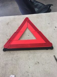 Oem 2002 Audi A6 Emergency Road Sign Reflective Triangle Yield Caution