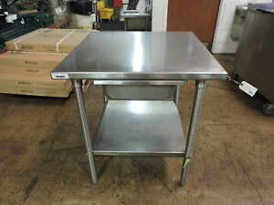 Commercial Stainless Steel Work Table With Drawer And Undershelf 30 X 30