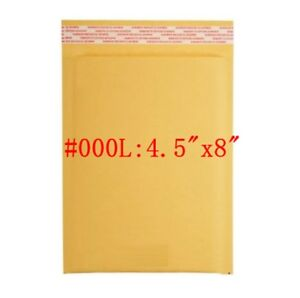 500 000 4x8 Kraft Paper Bubble Padded Envelopes Mailers Shipping Case 4 5 x8