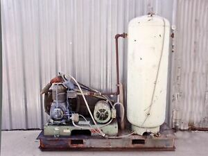 Century 15 Hp 208 480 3 Phase Air Compressor W Manchester Tank
