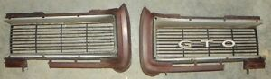 1968 Gto Original Gm Pair Of Grilles One Year Only