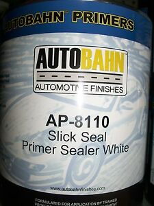White Slick Seal Primer Sealer Ready To Spray 1 Quart Auto Car Truck Paint Kit