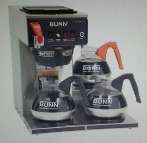Bunn Cwtf15 3 Coffee Brewer For Decanters