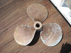 Propeller Bronze Vintage 20 Inch Marine Nautical Decor Boat Right Hand