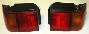 88 89 90 91 Honda Civic Wagon Pair R l Outer Taillights Tail Lights Oem Nice Set
