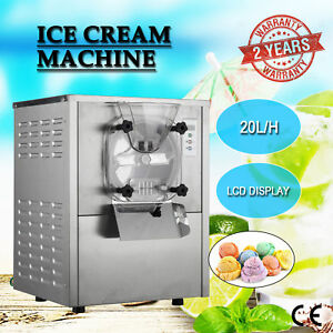 1 Flavor Commercial Frozen Hard Ice Cream Machine Maker 20l h W Lcd Display