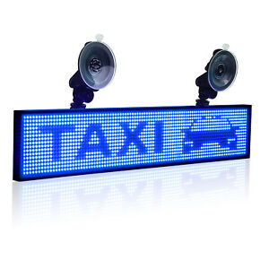 Leadleds Led Car Sign Programmable Scrolling Message Display Board Suckers Lot