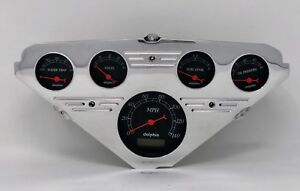 1955 1956 1957 1958 1959 Chevy Truck 5 Gauge Dash Cluster Black