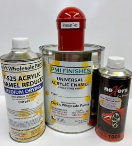 Premier Red Gallon Kit Single Stage Acrylic Enamel Car Auto Paint Kit