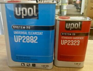 U Pol Universal Urethane Clear Coat Gallon Kit Up2882 W Up2323 Standard Hardener