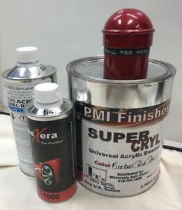 Fireball Red Pearl Gallon Kit Single Stage Acrylic Enamel Car Auto Paint Kit