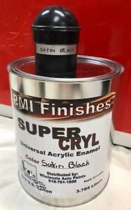 Satin Black Gallon Single Stage Acrylic Enamel Car Auto Paint