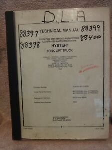 Hyster Technical And Shop Manual Fork Lift Mod H60xl Isuzu Mazda Engines