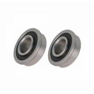 Two Precision Sealed Flanged 1 3 8 Od Bearings 1 2 5 8 3 4 Id