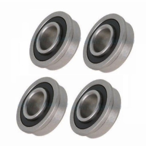 Four Precision Sealed Flanged 1 3 8 Od Bearings 1 2 5 8 3 4 Id