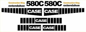 New Case 580c Loader Backhoe Construction King Decal Sticker Set Decals