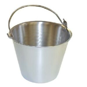Premium Stainless Steel Pail Vet milk Bucket Made In Usa Completely Seamless