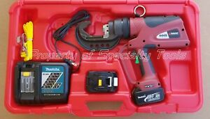 Burndy Pat644sl5 Hydraulic Battery Operated Crimper Dieless Crimping Tool Pat644