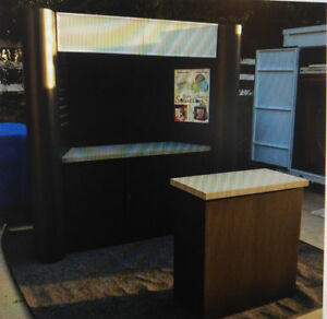 10ft Professional Trade Show Booth Display Exhibit With Transport Case 10x10
