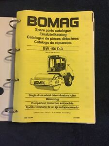 Bomag Spare Parts Catalogue Bw 156 D 3 Single Drum Wheel Drive Vibratory Roller