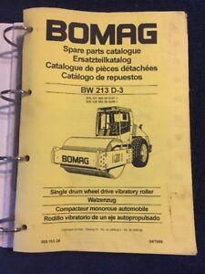 Bomag Spare Parts Catalogue Bw 213 D 3 Single Drum Wheel Drive Vibratory Roller
