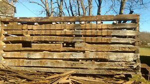 Disassembled Log Cabin 1850 s Reclaimed Lumber Recycle Reuse Hand Hewn