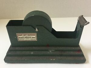 Vintage antique Scotch Brand Heavy Duty Tape Dispenser Industrial