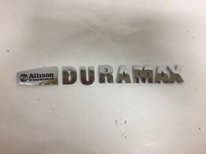 Gm Allison Transmission Duramax Emblem Gmc 2500 3500 Truck Decal Badge Chrome