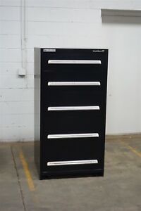 Used Stanley Vidmar 5 Drawer Cabinet Industrial Tool Storage 1449 Static Guard