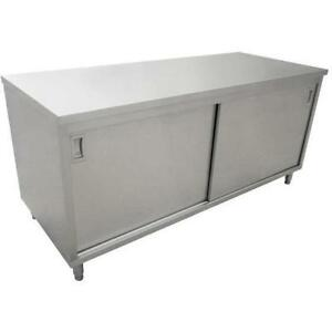 Commercial Stainless Steel Work Prep Table Cabinet 24 X 48 With Middle Shelf