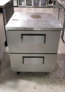 Used True Tuc 27d 2 Reach in Undercounter Refrigerator