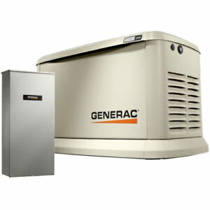 Generac Guardian 22kw Standby Generator System 200a Service Transfer Switch 7043