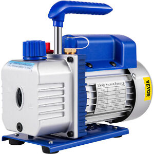 4 5cfm Single stage Rotary Vacuum Pump 12 8pounds 1 2 acme Inlet Brand New