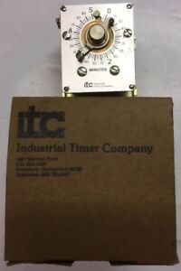 2 Itc Industrial Timer Co Model Csm 5m 0 5 Minute Timer 120 Volt 60 Hz