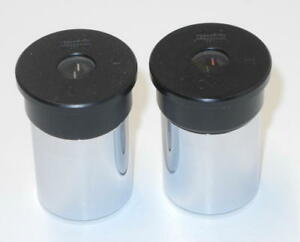 Two Wild Heerbrugg 10xk Microscope Eyepieces