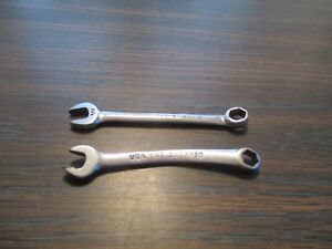 Snap On Tools 2 Piece Ignition Mini Combination Wrenches 9 32 1 4 Six Point